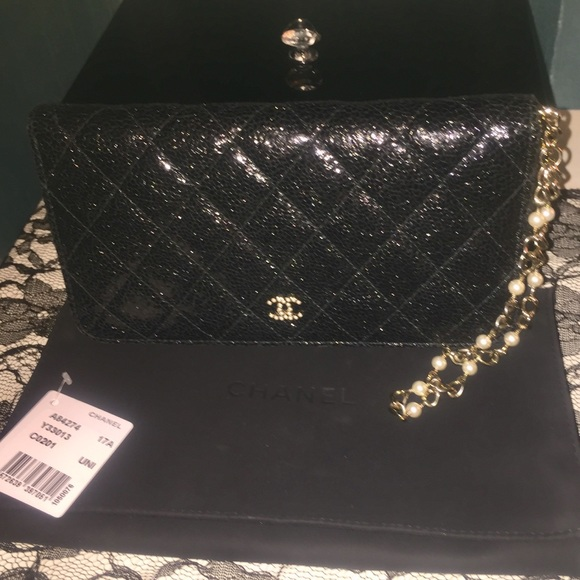 1175fa7b2c7b CHANEL Bags   Walletwristlet W Pearl Chain   Poshmark
